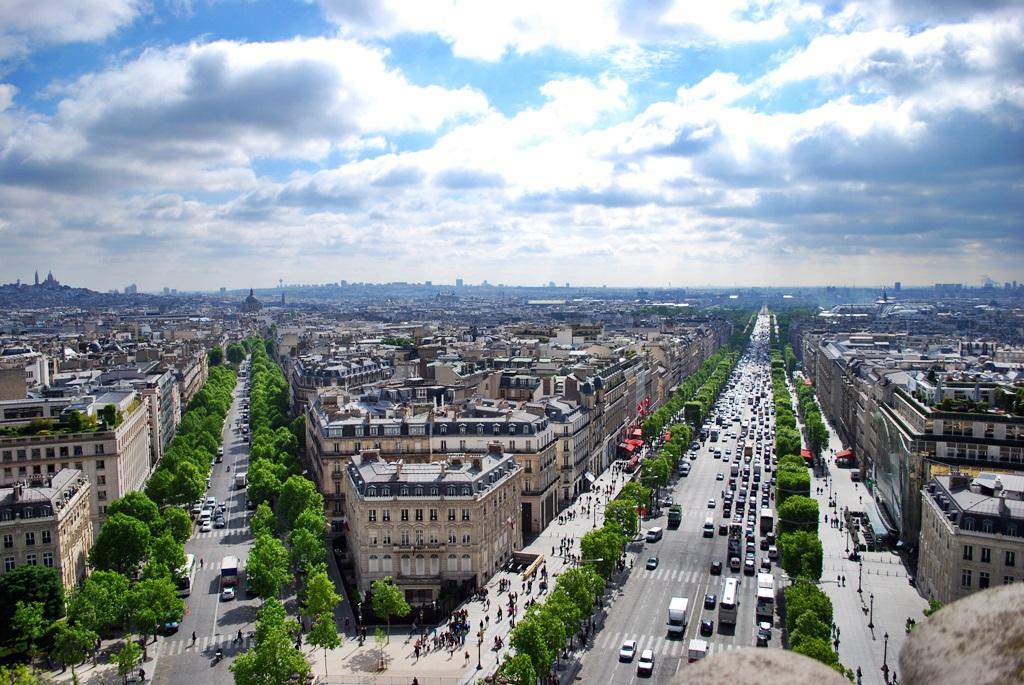 Champs-Élysées, a view from Arc de Triomphe