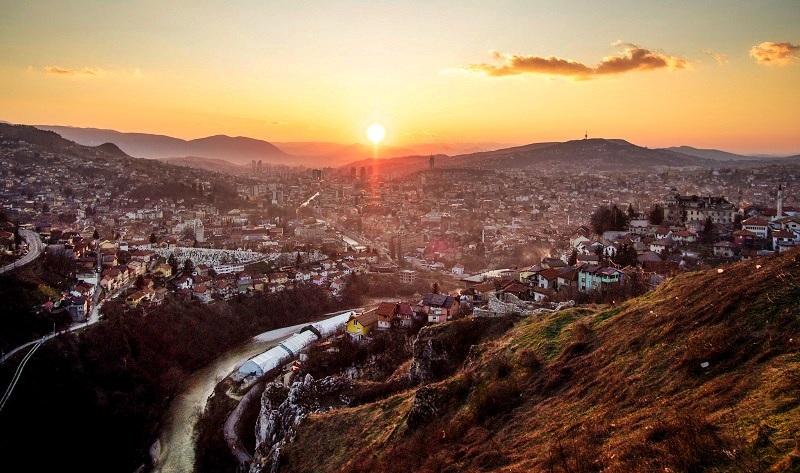 Sarajevo SUnset from Bijela Tabija
