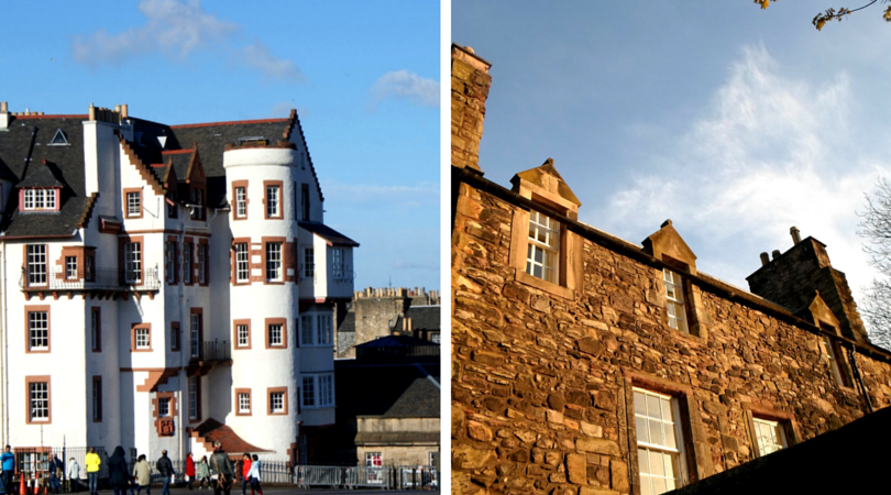 Castle Hill building  and An old building by the entrance to Holyrood Park