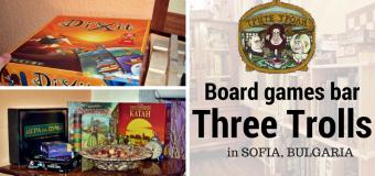 Three Trolls Board Games Bar in Sofia