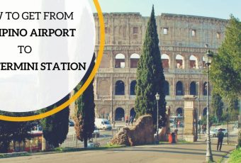 From Rome Ciampino Airport to Rome Termini station