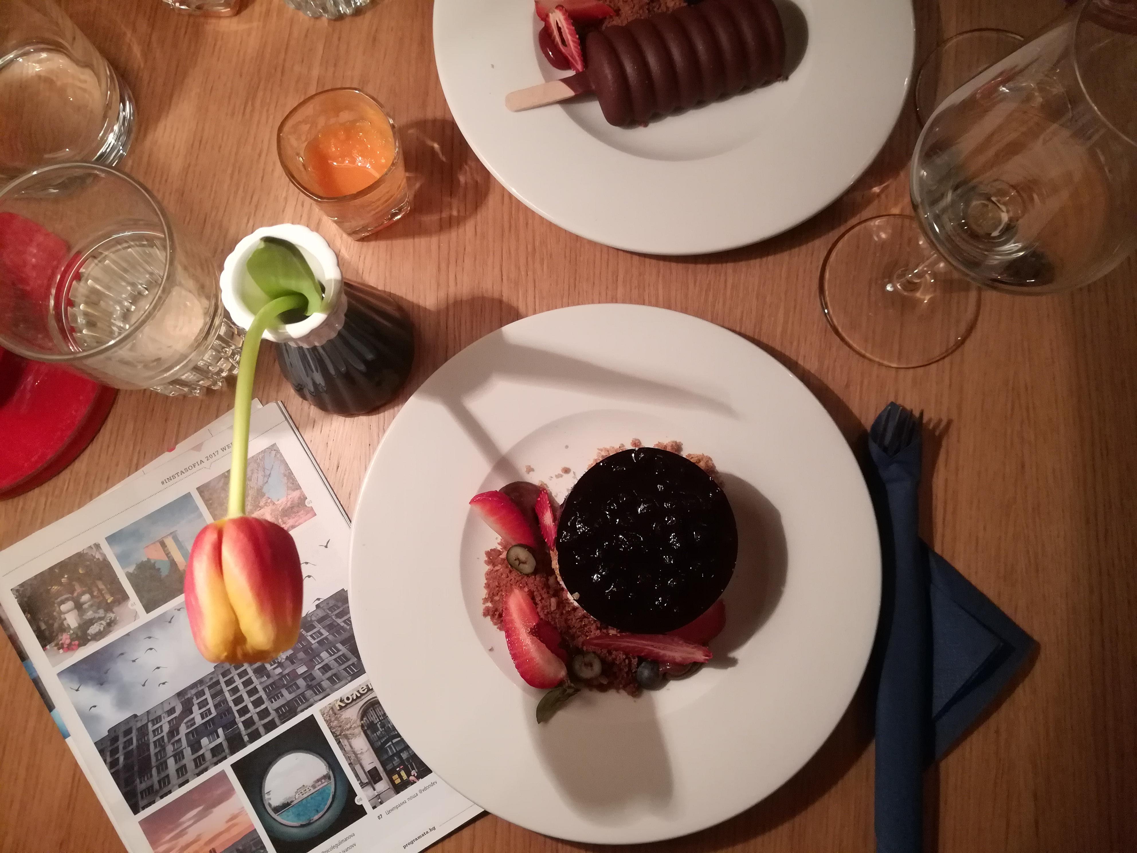 Delicious dessert at Soul Kitchen, Sofia
