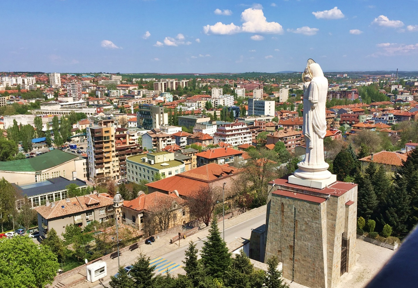 Holy Virgin Mary statue haskovo bulgaria